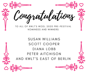 WODL pre-festival nominees and winners