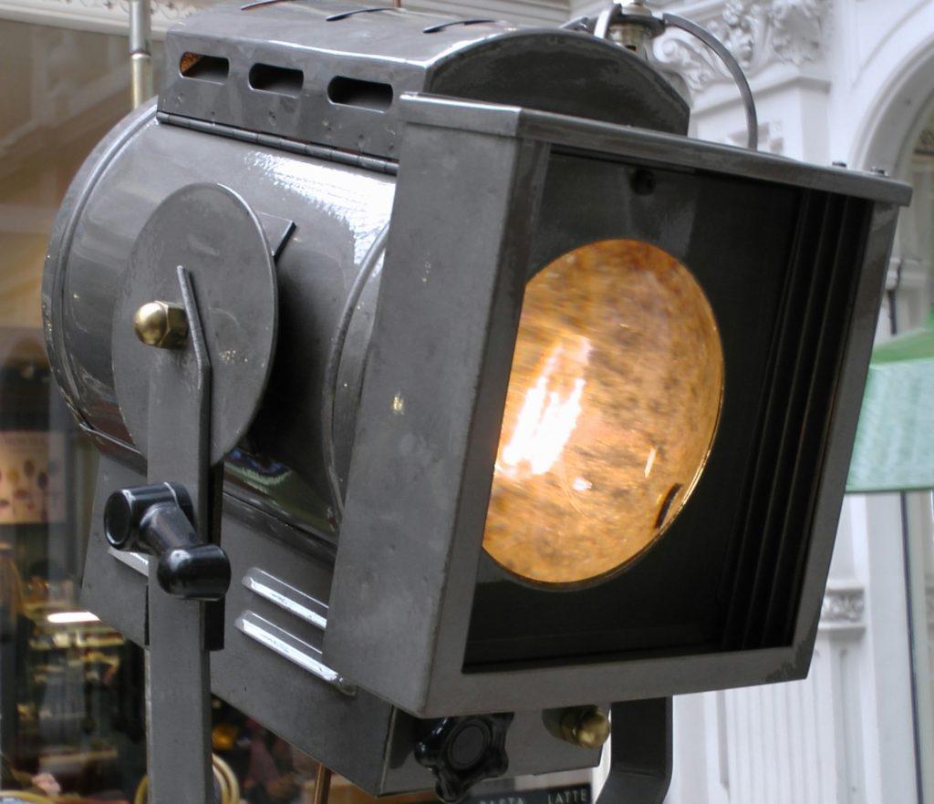 Black 1940s stage light